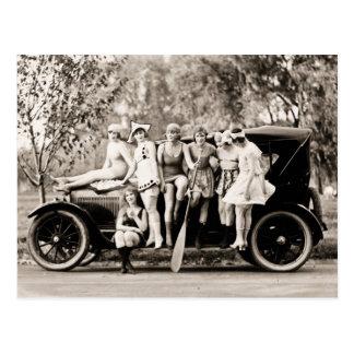 Filles de Mack Sennett baignant le cru de la Reine Carte Postale