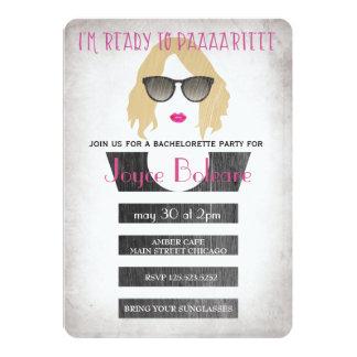 Filles d'invitation de partie de bachelorette de carton d'invitation  12,7 cm x 17,78 cm