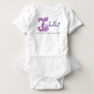 Filles nom d'Isabella et chemise de monogramme de