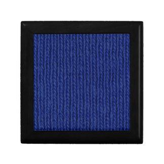 Fin de coton tricotée par bleu boîtes à bijoux