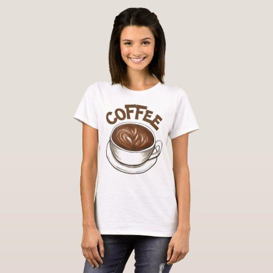 Fin gourmet de tasse de café de Seattle Latte de T-shirt