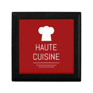 Fin gourmet français de gourmet de haute cuisine boîte à souvenirs