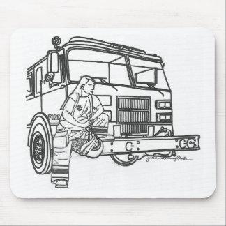 Firewoman Tapis De Souris