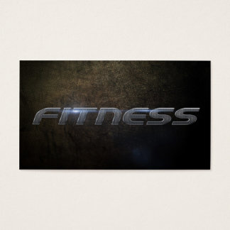 Fitness business card carte de visite standard