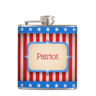 Flacon de hanche avec le drapeau américain pour le