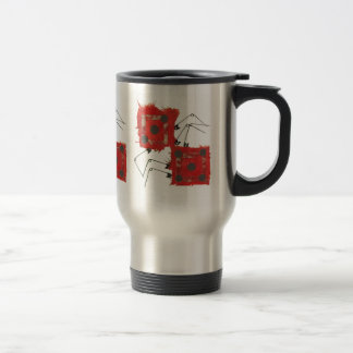 Flacon de voyage de coccinelle de matrices mug de voyage