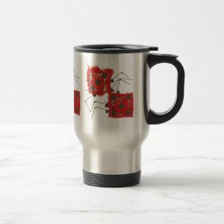 Flacon de voyage de coccinelle de matrices mug de voyage en acier inoxydable