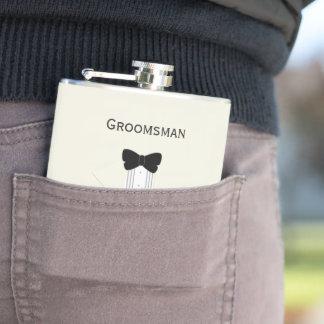Flacon en ivoire de hanche de Groomsman de smoking