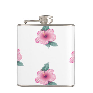 Flacon rose vintage tropical Girly de la ketmie