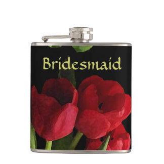 Flacon rouge de mariage de demoiselle d'honneur de