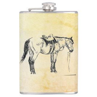 Flacon sellé de cheval