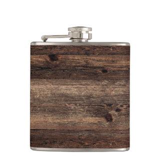 Flacon vintage antique en bois affligé