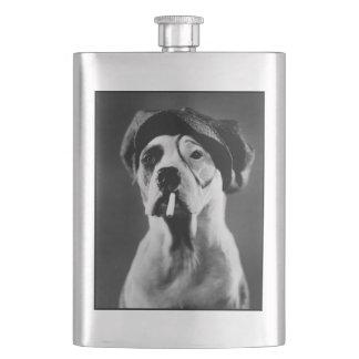 Flacon vintage d'image de chien