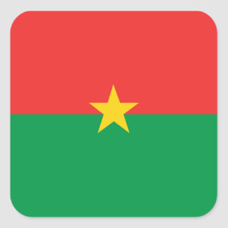 flag_burkina_farso sticker carré