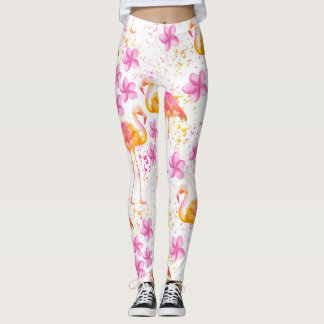 Flamant de fantaisie leggings
