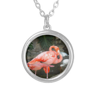 Flamant rose collier