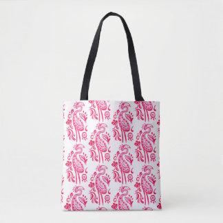 Flamant rose de Paisley Tote Bag