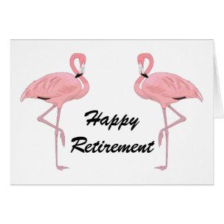 Flamants heureux de classique de retraite carte de vœux