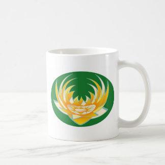 Flamme de LOTUS dans la base verte Mug