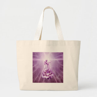 Flamme de rose rose de l'amour grand tote bag