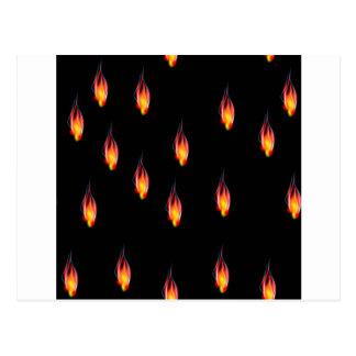 Flammes du feu carte postale