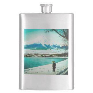 Flasque Balade d'hiver sous le cru Japon de 富士山 du mont