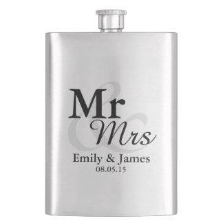Flasque Faveur élégante simple de mariage de typographie