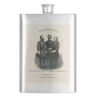 Flasque Héros Stonewall Beauregard Lee de guerre civile