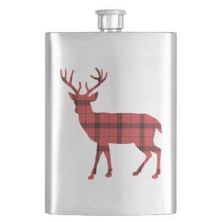 Flasque Les cerfs communs silhouettent le motif rouge de