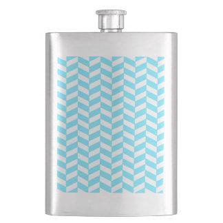 Flasque Motif bleu lumineux blanc en arête de poisson de