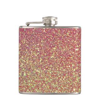 Flasques Aluminium rose de Faux de scintillement d'or