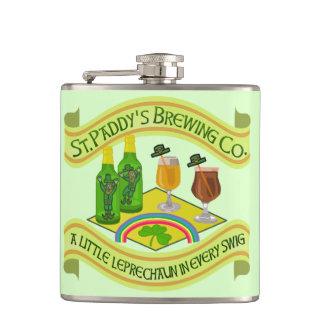 Flasques Brasserie drôle de lutin du jour de Patrick de