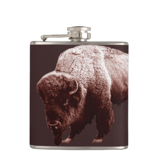 Flasques Buffalo rustique de Brown par Aleta
