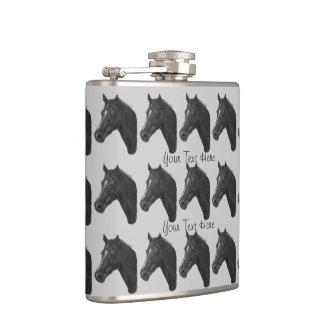 Flasques Conception équine de portrait de cheval de jument