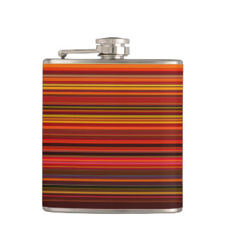 Flasques Couleurs chaudes - style à la mode - motif de