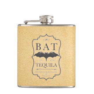 Flasques Étiquette vintage d'alcool de tequila de batte