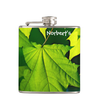 Flasques Feuille vert frais d'érable