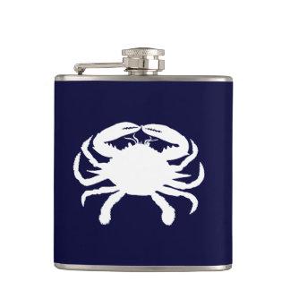 Flasques Forme bleue et blanche de crabe
