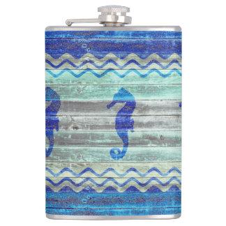Flasques Hippocampes côtiers rustiques de bleu marine