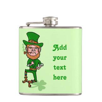 Flasques Jour de la Saint Patrick drôle de lutin