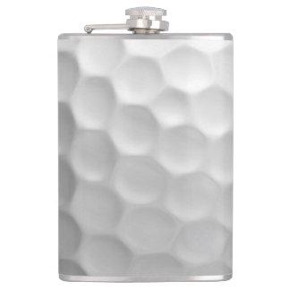 Flasques La boule de golf embrève le motif de texture