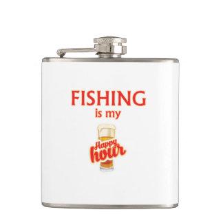 Flasques La pêche est mon heure heureuse
