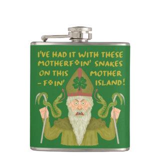 Flasques Le jour drôle de Patrick de saint serpente les