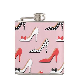 Flasques Madame des talons de rose de mode