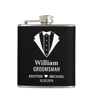 Flasques Marié simplement chic Groomsman de mariage de