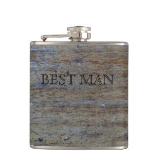 Flasques Meilleur homme rustique de la fibre de bois | pour