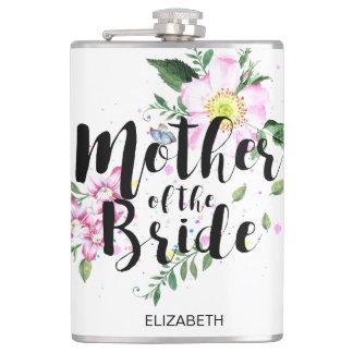 Flasques Mère du mariage floral d'aquarelle de rose de