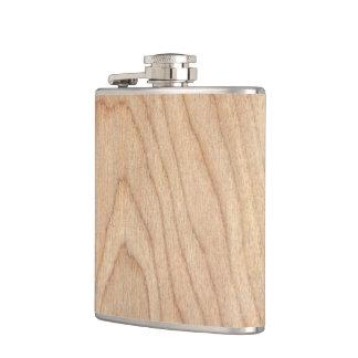 Flasques Motif en bois non fini moderne rustique imprimé