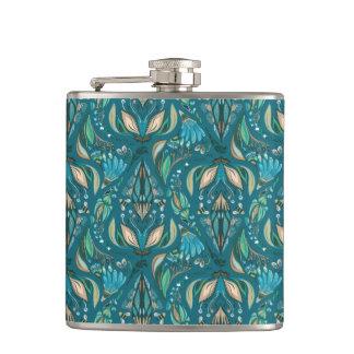 Flasques Motif rustique floral de mariage élégant beau