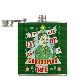 Flasques Rétro Lit potable d'homme d'humour de Noël drôle